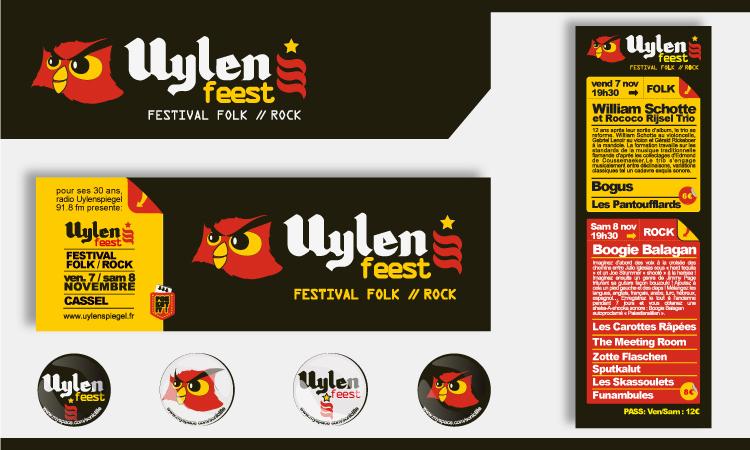flyer, badge